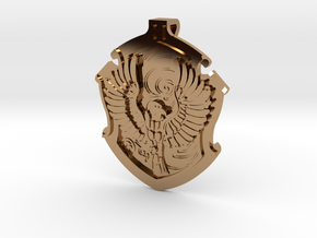 Ravenclaw House Crest - Pendant SMALL in Polished Brass