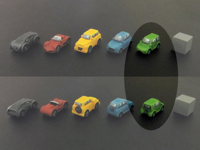 Miniature cars, Mini-car (8pcs) in Green Strong & Flexible Polished