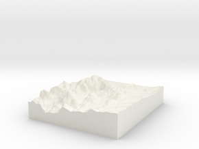 Hoover Dam: Topophile Model #0041 in White Natural Versatile Plastic