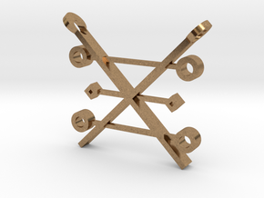 Copper Alchemy Symbol Pendant in Natural Brass