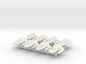 "1/1000 Scale Scampers ""Wave Riders"" Pack in White Natural Versatile Plastic"