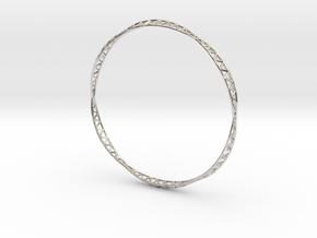 Half Octet Truss Bangle in Rhodium Plated Brass