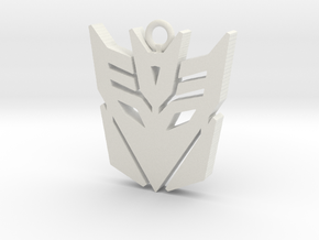 Transformers pendant in White Natural Versatile Plastic