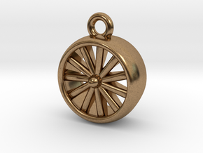 Jet Engine Pendant in Natural Brass