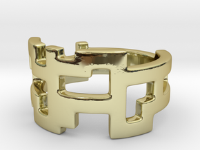 Ring Blocks - Size 4 in 18k Gold Plated