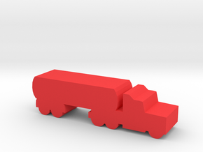 Game Piece, Semi-truck Tanker in Red Processed Versatile Plastic