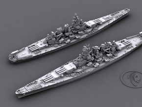 1/4800 US BB North Carolina [1944] (x2) in Smooth Fine Detail Plastic