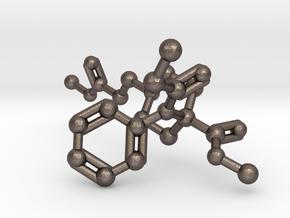 Remifentanil Molecule in Polished Bronzed Silver Steel