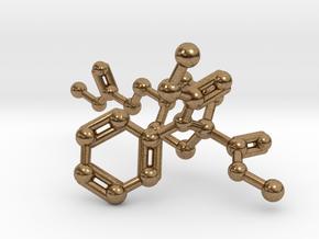 Remifentanil Molecule in Natural Brass