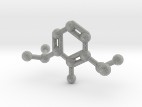 Propofol Molecule Keychain Necklace in Metallic Plastic