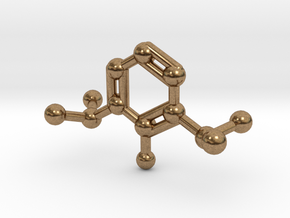 Propofol Molecule Keychain Necklace in Natural Brass