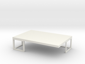Coffee Table  in White Natural Versatile Plastic
