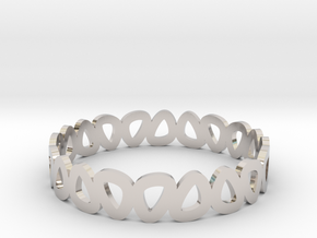 Pebble Bangle Bracelet in Rhodium Plated Brass: Small