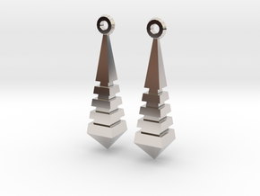 Monolith Earrings in Rhodium Plated Brass
