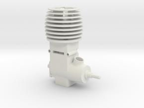Mini 2 Stroke Motor in White Natural Versatile Plastic