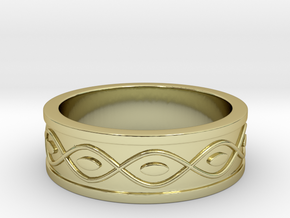 Ring with Eyes in 18k Gold Plated Brass