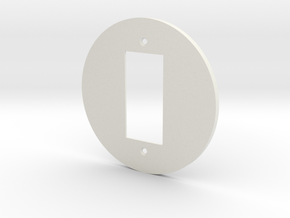 plodes® 1 Gang Decora Outlet Wall Plate in White Natural Versatile Plastic