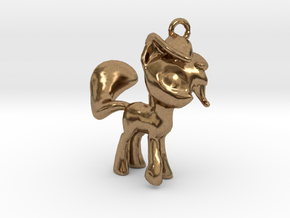 My Little Pony Pendant in Natural Brass