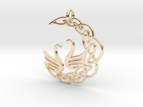 SwanPendant in 14K Yellow Gold