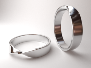 Mobius Ring (Size 7) in Rhodium Plated Brass