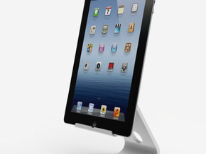 The Ipad stand (shelled) in White Natural Versatile Plastic