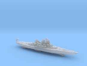 USN BB40 New Mexico [early-war;1942] in Smooth Fine Detail Plastic: 1:1800