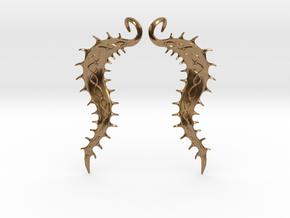 SeaBean Earrings in Natural Brass