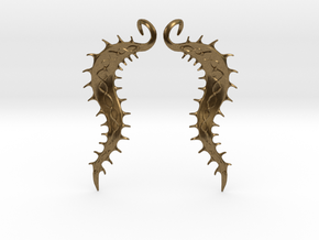 SeaBean Earrings in Natural Bronze