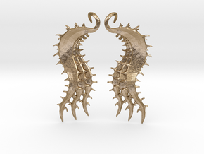 SeaBeans Earrings in Polished Gold Steel