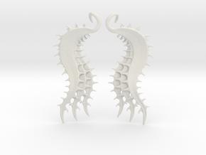 SeaBeans Earrings in White Natural Versatile Plastic
