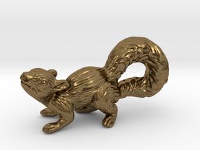 Squirrel Pendant in Natural Bronze