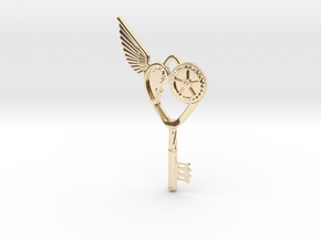Key Pendant in 14k Gold Plated Brass