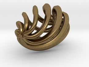 Drop Pendant in Natural Bronze