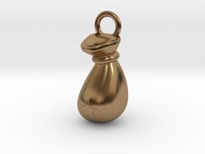 Sack Pendant in Natural Brass