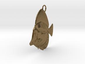 Fish Pendant in Natural Bronze