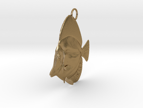 Fish Pendant in Polished Gold Steel