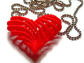 My twisted heart in Red Processed Versatile Plastic