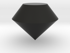Round Diamond in Black Natural Versatile Plastic