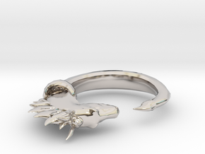 Horse Ring in Rhodium Plated Brass