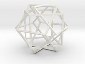 3 Cube Compound in White Natural Versatile Plastic