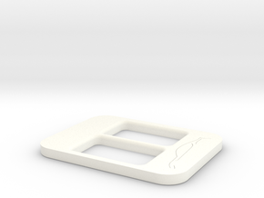BRZ Limited Console Plate Style 003 in White Processed Versatile Plastic
