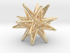 Icosahedron Star Earring in 14k Gold Plated Brass
