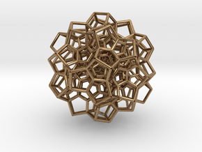 120-Cell Stereographic Projection, Partial in Natural Brass