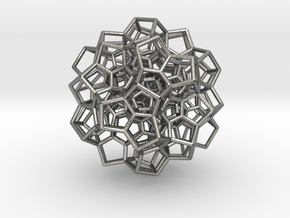 120-Cell Stereographic Projection, Partial in Natural Silver