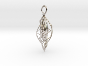 Spiral Seed 2 in Rhodium Plated Brass