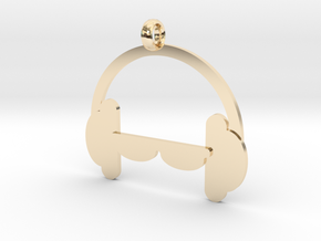 Headphones charm in 14k Gold Plated Brass