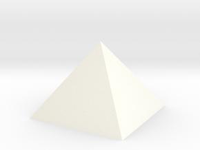 Pyramid Tall in White Processed Versatile Plastic