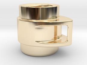 Coffee Mug in 14k Gold Plated Brass