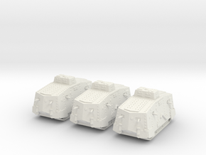 1/160 WW1 A7V tank in White Strong & Flexible