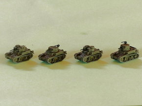 M1 & M2 Combat Cars / Light Tanks 1/220  in Frosted Ultra Detail